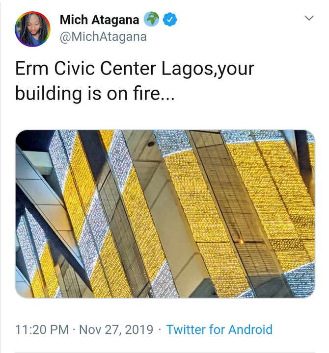 Fire At The Civic Centre, Lagos