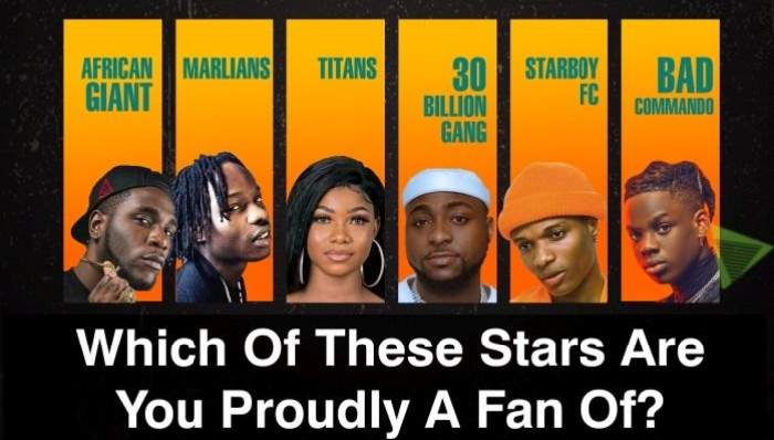 WAVE YOUR BANNER:- Which Of These Stars Are You Proudly A Fan Of?
