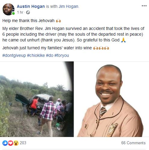 Reverend Jim Hogan Survives Accident That Claimed 6 Lives