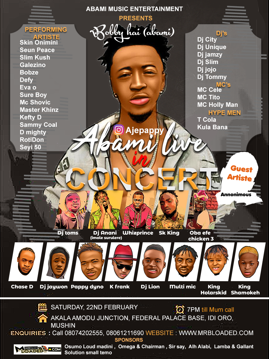 Abami Live in Concert ( ALIC) Comes up February 22, 2020